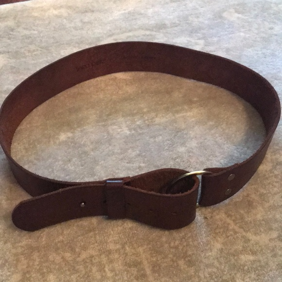 Accessories - Brown genuine leather belt -L